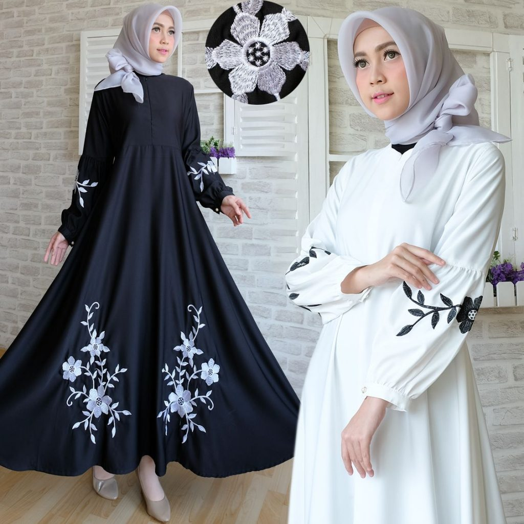 long dress bordir